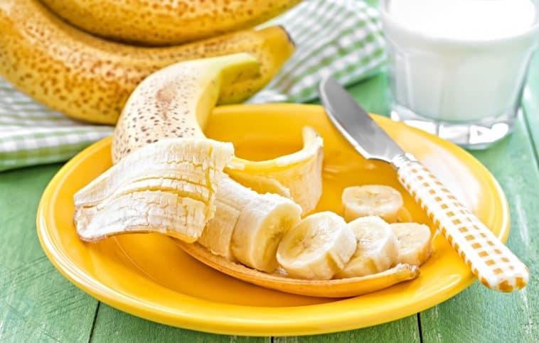 peeled banana slices on a plate