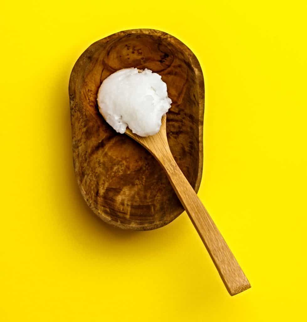 spoon of coconut butter
