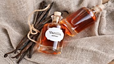 two bottles of vanilla extract
