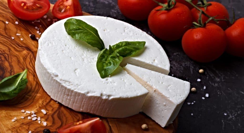 wheel of ricotta cheese