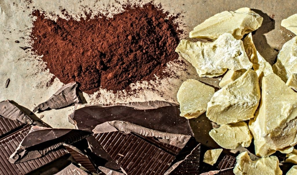 cocoa butter and cacao powder