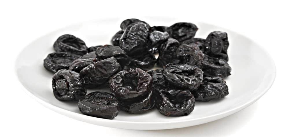 prunes on plate